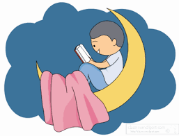 boy on moon reading book animated size 77 kb