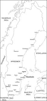 Sweden Map Coloring Page Free Printable Coloring Pages