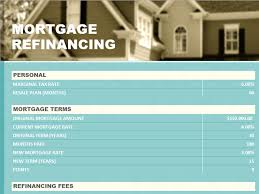 refinance calculations refinance calculator microsoft excel templates