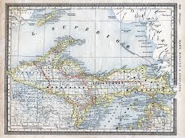 rand mcnally map of michigan upper peninsula