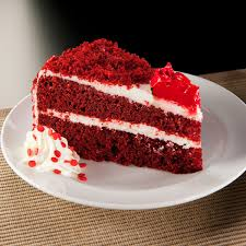 slice of birthday cake red velvet. Delighful Red Red Velvet Cake Intended Slice Of Birthday E