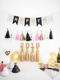 diy new years eve decorations pink gold