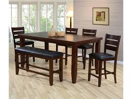 Bardstown Pub Table Set With Bench By Crown Mark At Household Furniture