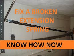 garage door extension springsReplace a Garage Door Extension Spring  YouTube