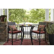 display reviews for lunburg 3 piece black metal frame wicker patio set with red