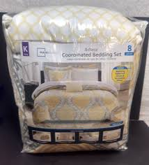upc 675716523794 image for mainstays yellow damask coordinated bedding set bed in a bag