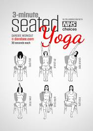 a three minute yoga exercise routine you can do while sitting at work within exercise while