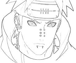 Coloring Pages Naruto Coloring Pages Pain A Naruto Coloring Pages