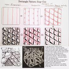 Zentangle Pattern Fascinating Tess's Zentangle Patterns Tangled String Creations LLC