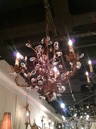 crystal bud aged gold small chandelier