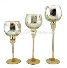 gold mercury candle holders gold mercury glass gold mercury glass goblet holiday candle holder set from