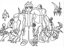 Small Picture Ben 10 Coloring Pages to Encourage in coloring picture Cool