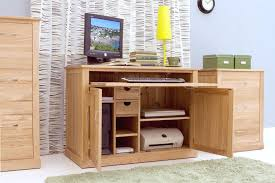 mobel oak hidden home. Safe And Secure Away From Prying Eyes With This Beautifully Discreet Desk That Can House All Your Computer Peripherals TooMobel Oak Hidden Home I