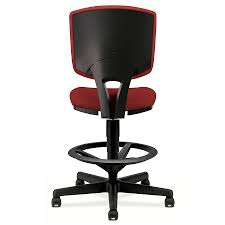 modern task chair. Voyage Modern Task Stool In Crimson - Back View Chair
