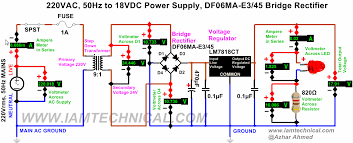 power mosfet bridge rectifier circuit diagram images power supply using voltage regulator lm7818ct bridge rectifier df06ma
