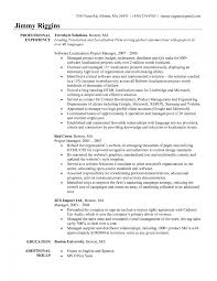 Free Project Manager Resume Template Examples Ms Word It Curriculum