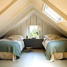 bedroom with low slanted ceiling is bad feng shui