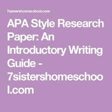 the best apa guide ideas apa style writing apa  apa style research paper an introductory writing guide