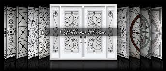 distinctive glass inserts wrought iron decorative door for window remodel 6