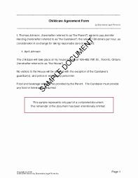 Custody Agreement Sample Child Custody Agreement Template Ontario 50 Awesome Draft Custody