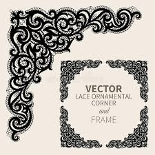 Vector Ornamental Corner Frame Stock Vector Illustration of