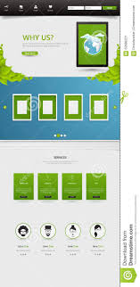 Iconic Website Design Eco Business One Page Website Design Template Stock