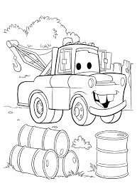 Walt Disney Cars Coloring Pages