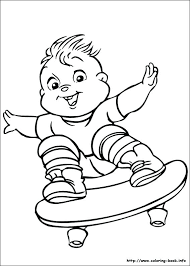 Alvin And The Chipmunks Nickelodeon Coloring Pages And The Chipmunks