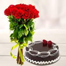 roses and cake valentine s day chandigarh