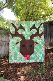 free pattern = Reindeer quilt by Alicia Steele as seen at Moda ... & free pattern = Reindeer quilt by Alicia Steele as seen at Moda Bakeshop Adamdwight.com