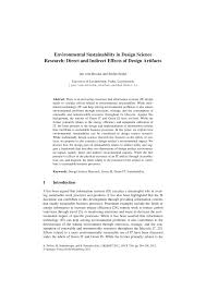 Theresa Seidel Designs Pdf Environmental Sustainability In Design Science Research