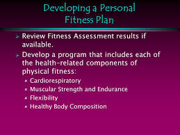 A Fitness Plan Developing A Personal Fitness Plan Ppt Download