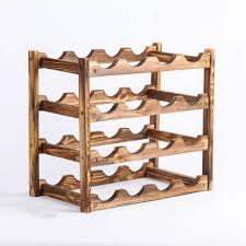 countertop wine rack modern design for easy free standing bar table storage organizer natural wood
