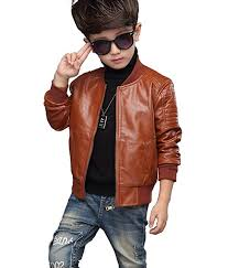 black youngsoul childrens boys motorcycle leather pu jacket teenage kids faux leather biker autumn winter coat