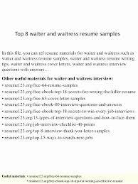 Waiter Job Description For Resume Sample Resume With Job Description ...