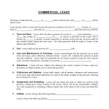 free office samples office lease template