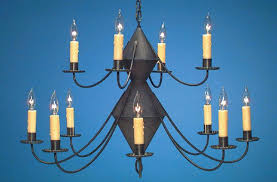 hammerworks reion colonial tin chandeliers handmade in 2 tier with antique finish ch201