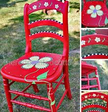 whimsy furniture. Painting A Whimsical Chair With Free Pattern, Painted Furniture Whimsy :