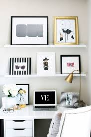1000 ideas about white desk office on pinterest gold lamps white desks and leaning desk black white home office study
