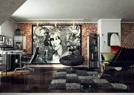 wall art office. Loft Wall Art Work With Small Office Ideas And Modern Apartment Design Pics 2018