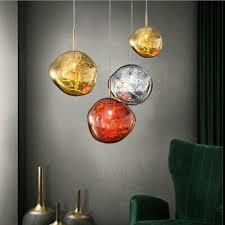 modern glass ball lava chandelier melt