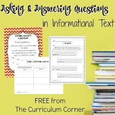Ask Answer Questions In Informational Text The