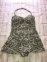 Malibu Dream Girl Swimwear Size Chart Womens Valerie Bertinelli Polka Dot Ruffled Swimdress