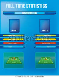 Soccer Playing Time Chart Soccer Football Info Graphics Player Statistics Stock Vector