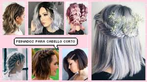 Peinados Para Cabello Corto Faciles Youtube