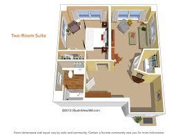 Senior Living Floor Plans  Peakview Assisted Living U0026 Memory CareAssisted Living Floor Plan