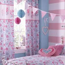 Girls Bedroom Curtains Also Blackout Childrens Sweetheats Pink