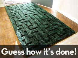 how to make a 3d maze rug