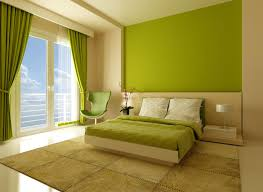 Painting For Bedrooms Sweet Painting Bedroom With Fresh Green Colors Also Cozy King Size