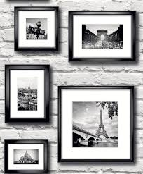 brick wall wallpaper france paris in frames black white muriva 77209
